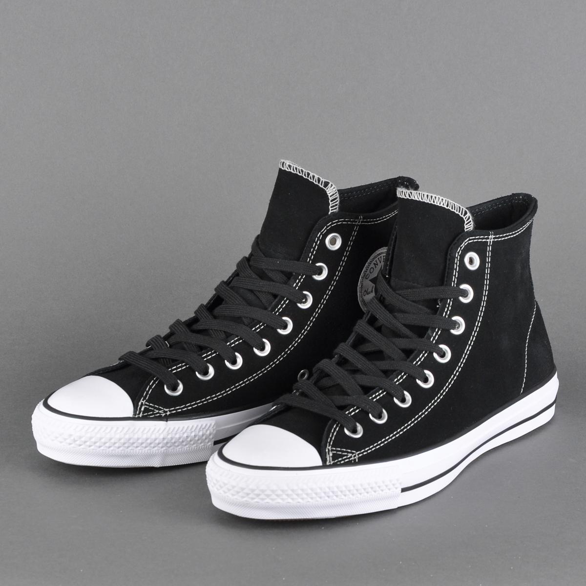 terraza Dinkarville insondable  Converse Cons CTAS Pro Hi Suede, black / black / white   Beyond