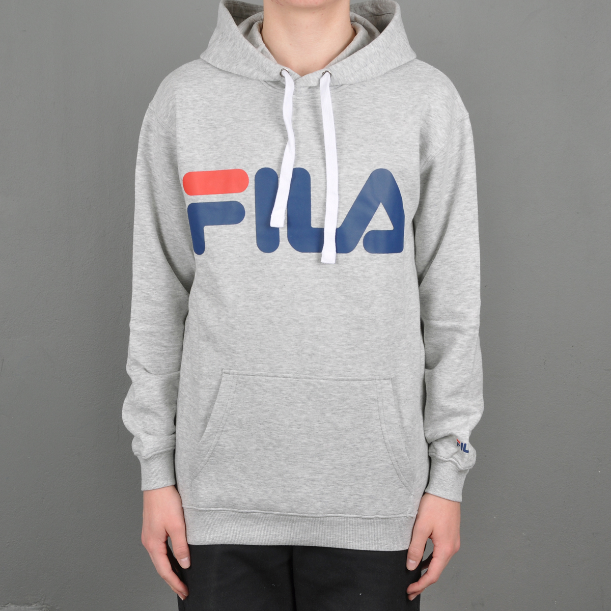 3c4c525bdf2a Clothing ». Fila Classic Logo hood, light grey melange. 1