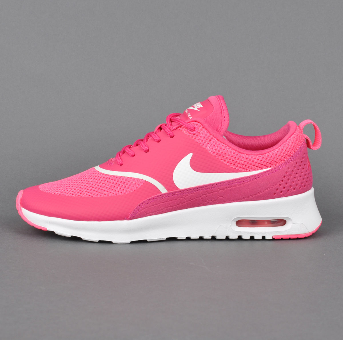 pink and white air max thea