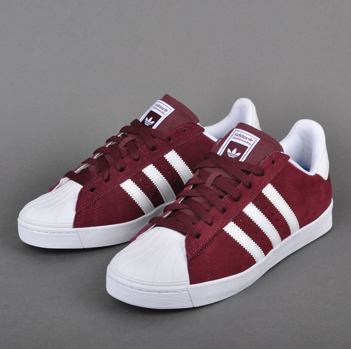Cheap Adidas Superstar Vulc ADV Burgundy Originals Mens Shoes